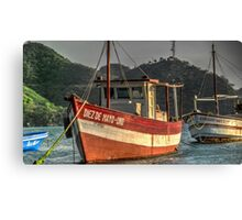 Old boat in Colombia Canvas Print