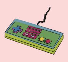 NES Controller Neon 80s Colors Baby Tee