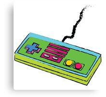 NES Controller Neon 80s Colors Canvas Print