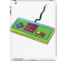 NES Controller Neon 80s Colors iPad Case/Skin