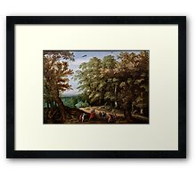 The Prophet Elisha Curses Mocking Children with Mauling Death (painting) Framed Print