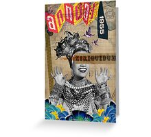 Public Figures Collection -- Carmen by Elo Greeting Card