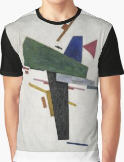 Kazimir Malevich - Untitled. Abstract painting: abstract art, geometric, expressionism, composition, lines, forms, creative fusion, spot, shape, illusion, fantasy future Graphic T-Shirt