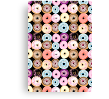 pattern delicious donuts  Canvas Print