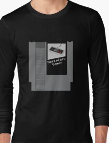 NES Cartridge - Nostalgic Gamer Long Sleeve T-Shirt