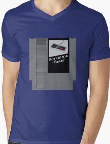 NES Cartridge - Nostalgic Gamer Mens V-Neck T-Shirt
