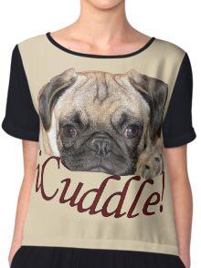 iCuddle Pug Puppy Chiffon Top