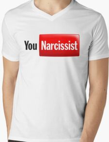 You Narcissist - Parody Logo Mens V-Neck T-Shirt