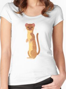 W is for Weasel Women's Fitted Scoop T-Shirt