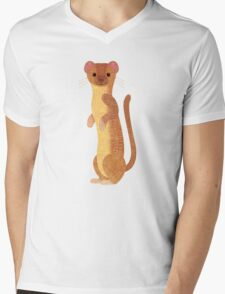 W is for Weasel Mens V-Neck T-Shirt