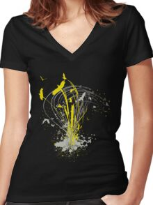 migratory patterns Women's Fitted V-Neck T-Shirt