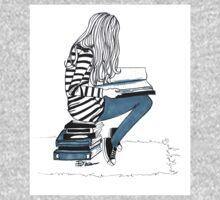 Reading Girl One Piece - Long Sleeve