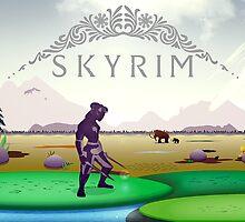 Skyrim Tundra Postcard by tyzenxebec