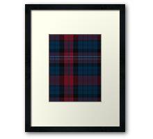 02904 Evans of Wales Tartan  Framed Print