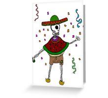 La fiesta de la muerte Greeting Card
