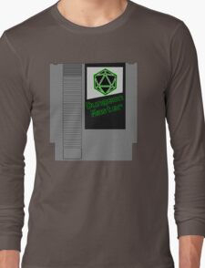 Dungeon Master NES Cartridge Mash Up Long Sleeve T-Shirt