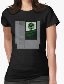 Dungeon Master NES Cartridge Mash Up Womens Fitted T-Shirt