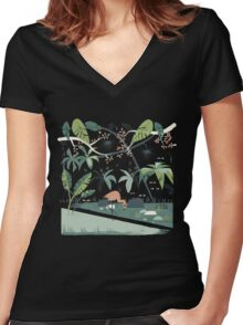 Nightshade Jungle Women's Fitted V-Neck T-Shirt