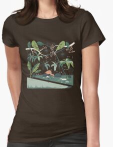 Nightshade Jungle Womens Fitted T-Shirt