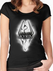 Skyrim Elder Scrolls Dragon Women's Fitted Scoop T-Shirt