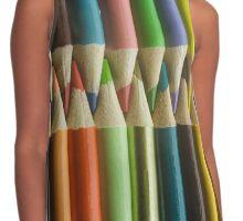 Vertical Colored Pencils Contrast Tank