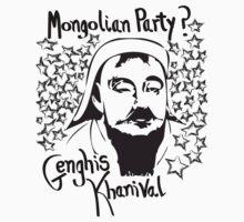 Mongolian party = Genghis Khanival Kids Tee