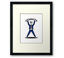 successful career winner Framed Print