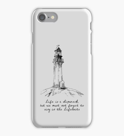 Voltaire - Life is a Shipwreck iPhone Case/Skin