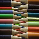 Horizontal Colored Pencils by Randy Turnbow