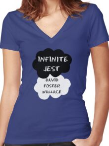Infinite Jest Women's Fitted V-Neck T-Shirt