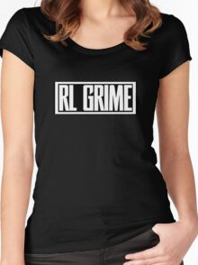 RL Grime Basic (WHITE) Women's Fitted Scoop T-Shirt