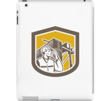 Dock Worker on Phone Container Yard Shield iPad Case/Skin