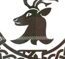Fraser Motto (Tartan on White) Sticker