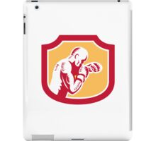 Boxer Boxing Jabbing Punch Side Shield Retro iPad Case/Skin