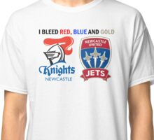 Newcastle - I Bleed Red, Blue and Gold Classic T-Shirt