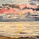 Dusk on the Beach by Jennifer Ingram