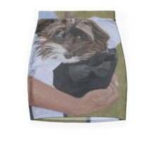 """I Got Carried Away"" Puppy Dog in Equestrian Helmet Painting Mini Skirt"