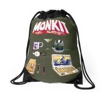 Mon KIT DE SURVIE - My SURVIVAL KIT Drawstring Bag