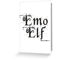 EMO ELF (Critical Role Fan Design) (Black) Greeting Card