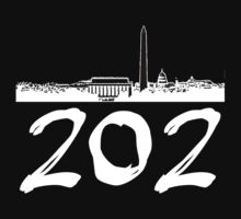 Washington D.C. - 202 (White Logo) One Piece - Short Sleeve
