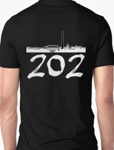 Washington D.C. - 202 (White Logo) T-Shirt