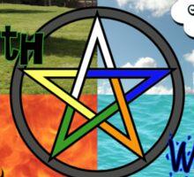 Earth,Air,Fire,Water Sticker