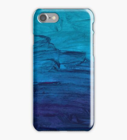 Blue Watercolor Texture iPhone Case/Skin