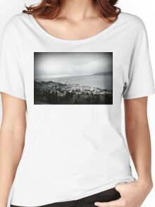 view from the Astoria Column Astoria–Megler Bridge Women's Relaxed Fit T-Shirt