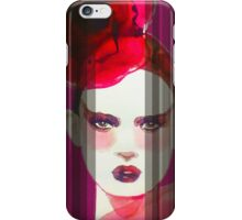Veiled Lady in Red iPhone Case/Skin