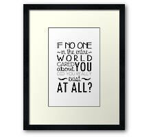 The Infernal Devices Quote Framed Print