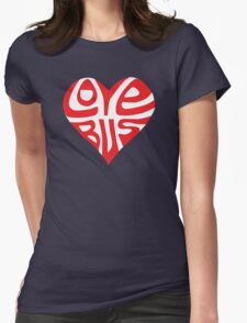 love bus Womens Fitted T-Shirt