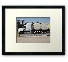 Trucking cotton Framed Print