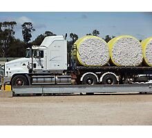 Trucking cotton Photographic Print
