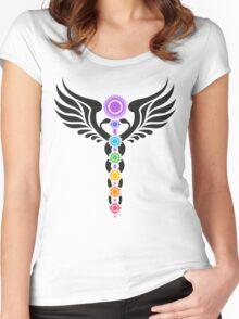 Caduceus - Kundalini - 7 Chakras Women's Fitted Scoop T-Shirt